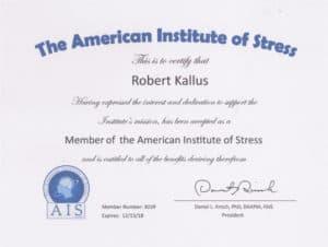 Robert Kallus Certificate